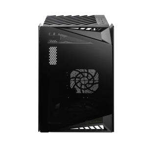 SilverStone LD03-AF (M-DTX) Mini Tower Cabinet With Tempered Glass Side Panel (Black)