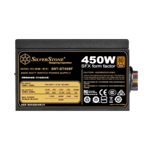 SilverStone ST45SF SFX SMPS – 450 Watt 80 Plus Bronze Certification PSU With Active PFC