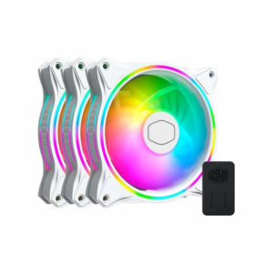 Cooler Master MF120 Halo White Edition ARGB Cabinet Fan (Triple Pack)