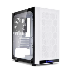 SilverStone PS15 (M-ATX) Mid-Tower Cabinet With Tempered Glass Side Panel (White)