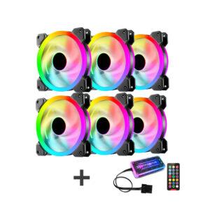 TDS RADIAL ARGB FANS(6 fans kit)